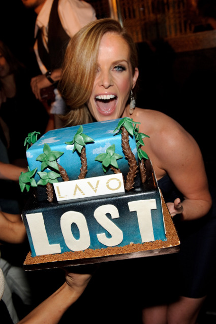May 22, 2010, LAS VEGAS, NV; Actress Rebecca Mader of &quot;Lost&quot; celebrates the series finale at Lavo Nightclub Las Vegas, with a custome cake (C) Al Powers / RETNA ltd