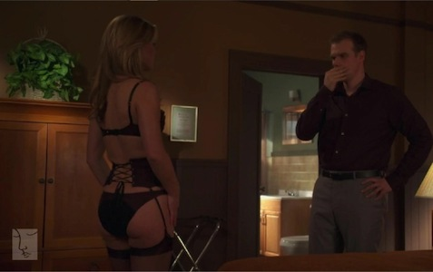 Julia Stiles Blue-2 in lingerie